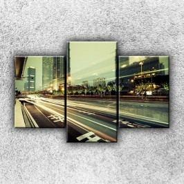 Tepny velkoměsta 3 (105 x 70 cm) -  Třídílný obraz