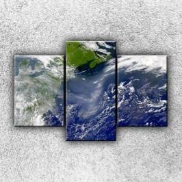 Země (105 x 70 cm) -  Třídílný obraz