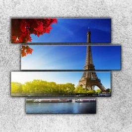 Eiffelovka z dálky (110 x 90 cm) -  Čtyřdílný obraz