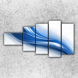 Modrá vlna 2 (110 x 60 cm) -  Pětidílný obraz