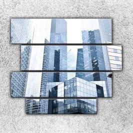 Pohled na mrakodrapy (110 x 90 cm) -  Čtyřdílný obraz