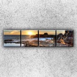 Skalnatý útes (160 x 40 cm) -  Čtyřdílný obraz