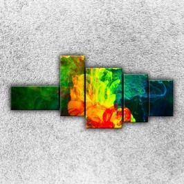 Rozpuštěné barvy 3 (130 x 60 cm) -  Pětidílný obraz