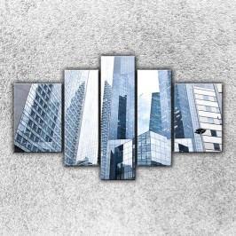 Pohled na mrakodrapy 2 (125 x 90 cm) -  Pětidílný obraz