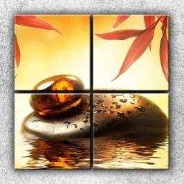Xdecor Kapička jantaru (100 x 100 cm) -  Čtyřdílný obraz
