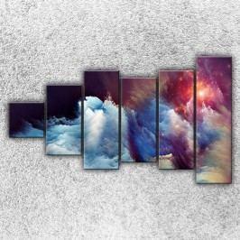 Vesmírná mračna 2 (150 x 90 cm) -  Šestidílný obraz