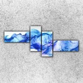 Modrý závoj (200 x 85 cm) -  Čtyřdílný obraz
