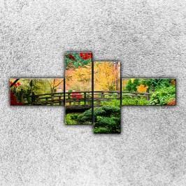 Most v parku 1 (180 x 90 cm) -  Čtyřdílný obraz