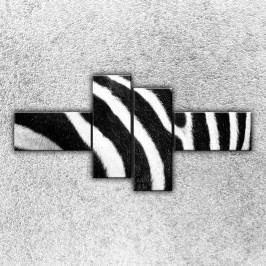 Pruhy zebry (180 x 90 cm) -  Čtyřdílný obraz