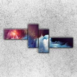 Vesmírná mračna 1 (200 x 85 cm) -  Čtyřdílný obraz