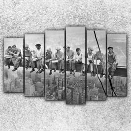 Dělníci na traverze 3 (150 x 100 cm) -  Šestidílný obraz