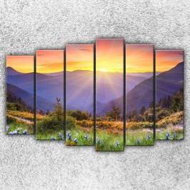 Krajina při západu 3 (150 x 100 cm) -  Šestidílný obraz