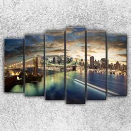 Světla Brooklynu 2 (150 x 100 cm) -  Šestidílný obraz