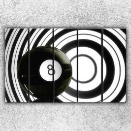 Černá osmička (125 x 80 cm) -  Pětidílný obraz