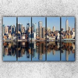 Manhattan 2 (125 x 80 cm) -  Pětidílný obraz