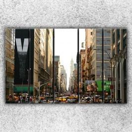 Živé město (125 x 80 cm) -  Pětidílný obraz