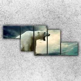 Lední medvěd 2 (170 x 70 cm) -  Pětidílný obraz