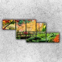 Most v parku 2 (170 x 70 cm) -  Pětidílný obraz
