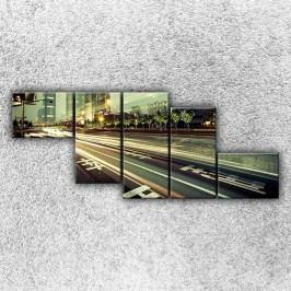 Tepny velkoměsta 5 (170 x 70 cm) -  Pětidílný obraz