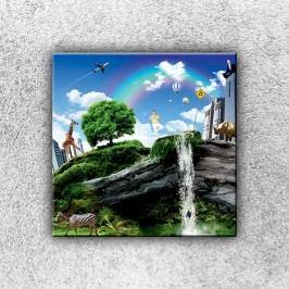 Koláž světa 1 (30 x 30 cm) -  Jednodílný obraz