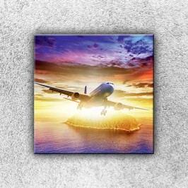 Letadlo se sluncem (30 x 30 cm) -  Jednodílný obraz