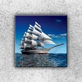 Plachetnice na moři (30 x 30 cm) -  Jednodílný obraz