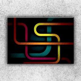 Prohnuté pruhy (50 x 35 cm) -  Jednodílný obraz
