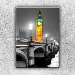 Big Ben ve zlaté záři (70 x 50 cm) -  Jednodílný obraz