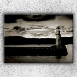 Sépiový maják 1 (70 x 50 cm) -  Jednodílný obraz