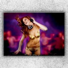 Slečna DJ 3 (70 x 50 cm) -  Jednodílný obraz