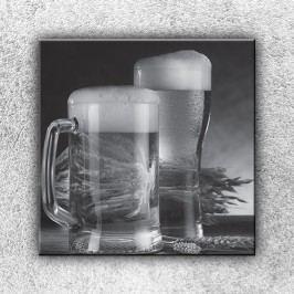 Půllitry piva (70 x 70 cm) -  Jednodílný obraz