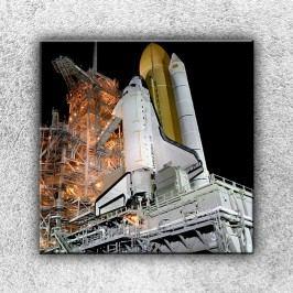 Raketoplán na rampě (30 x 30 cm) -  Jednodílný obraz