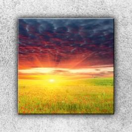 Rudé mraky (70 x 70 cm) -  Jednodílný obraz