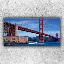 Golden Gate Bridge zespodu 3 (100 x 50 cm) -  Jednodílný obraz