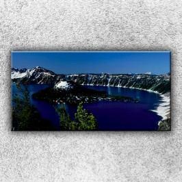 Jezero v horách (100 x 50 cm) -  Jednodílný obraz
