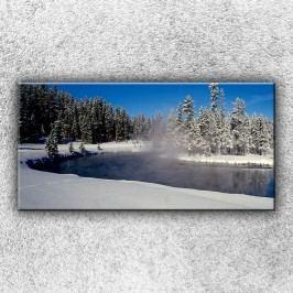 Zimní jezero (100 x 50 cm) -  Jednodílný obraz