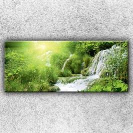 Lesní vodopád 1 (120 x 50 cm) -  Jednodílný obraz