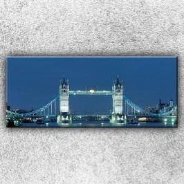 Noční Tower Bridge 1 (120 x 50 cm) -  Jednodílný obraz