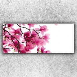 Růžová větvička 1 (120 x 50 cm) -  Jednodílný obraz