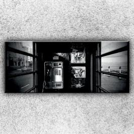 V telefonní budce 1 (120 x 50 cm) -  Jednodílný obraz