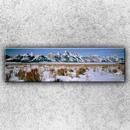 Horské panorama (140 x 40 cm) -  Jednodílný obraz