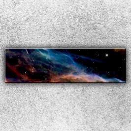 Modrá mlhovina (140 x 40 cm) -  Jednodílný obraz
