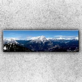 Skalisté hory 3 (140 x 40 cm) -  Jednodílný obraz