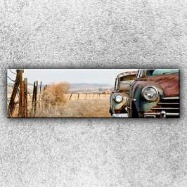 Stará auta (140 x 40 cm) -  Jednodílný obraz