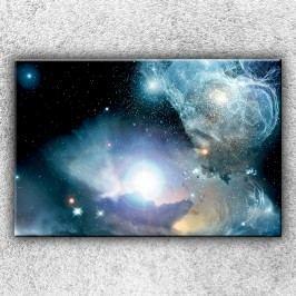 Modrý vesmír (120 x 80 cm) -  Jednodílný obraz