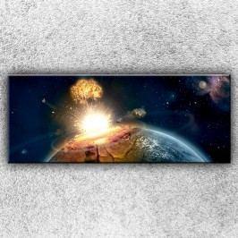 Dopad meteoritu 2 (150 x 60 cm) -  Jednodílný obraz