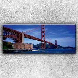 Golden Gate bridge zespodu 1 (150 x 60 cm) -  Jednodílný obraz