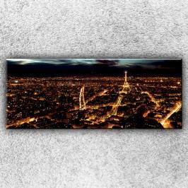 Noční Paříž 3 (150 x 60 cm) -  Jednodílný obraz