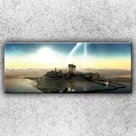 Vesmírné město (150 x 60 cm) -  Jednodílný obraz