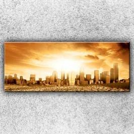 Vyprahlé město (150 x 60 cm) -  Jednodílný obraz